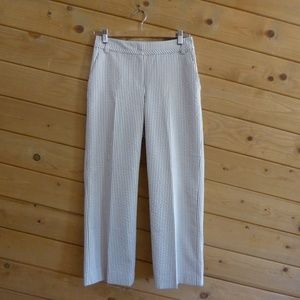 ST John Tan Cream Stripe Straight Pants Trousers 2